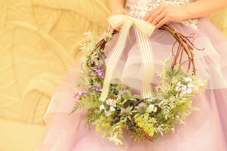 高松市の結婚式場アイルバレクラブのリングブーケ