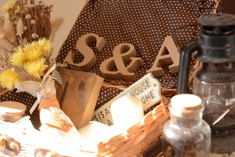 高松市の結婚式場アイルバレクラブのイニシャルオブジェと装飾