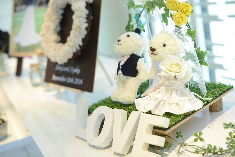 高松市の結婚式場アイルバレクラブのウエルカムオブジェ