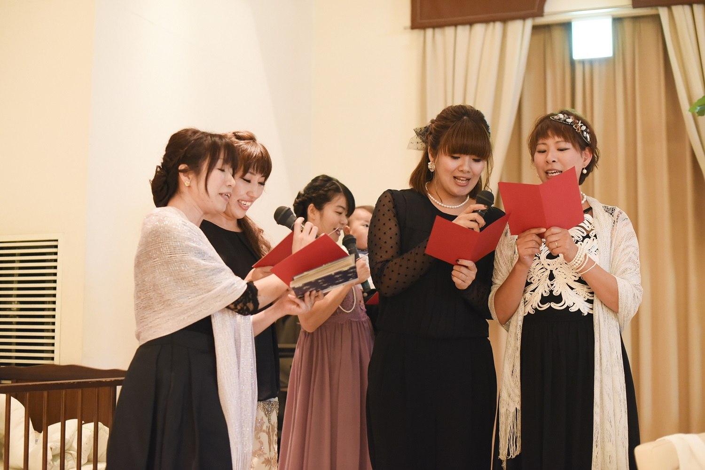 高松市の結婚式場アイルバレクラブの新婦ゲストの余興