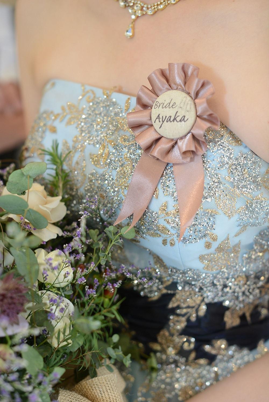 高松市の結婚式場アイルバレクラブの新婦の手作りのロゼット