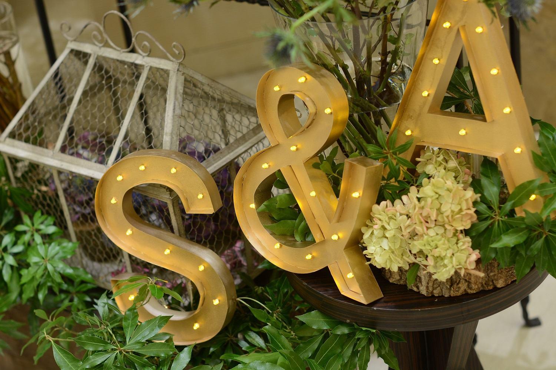 高松市の結婚式場アイルバレクラブのイニシャルオブジェ