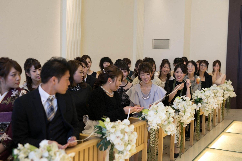 高松市の結婚式場アイルバレクラブの挙式でリングリレーの演出