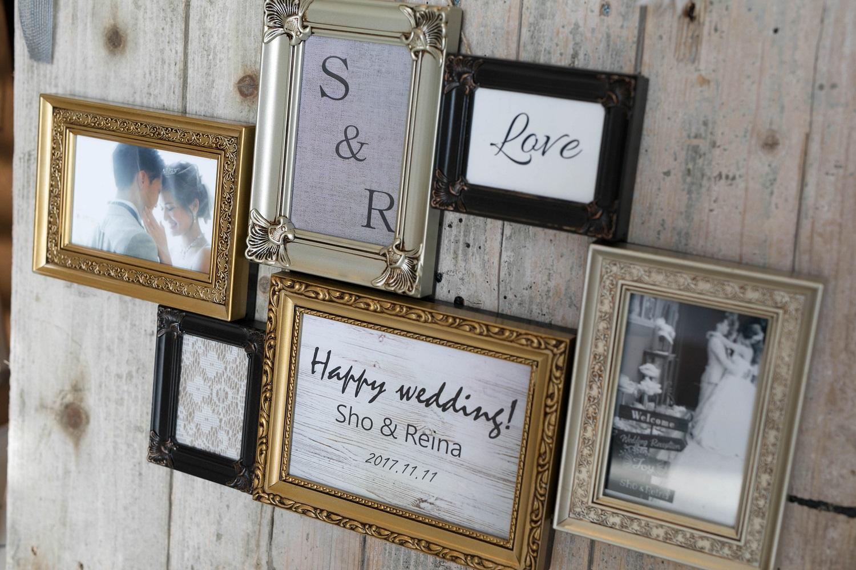 高松市の結婚式場アイルバレクラブのアンティークのフォトフレーム