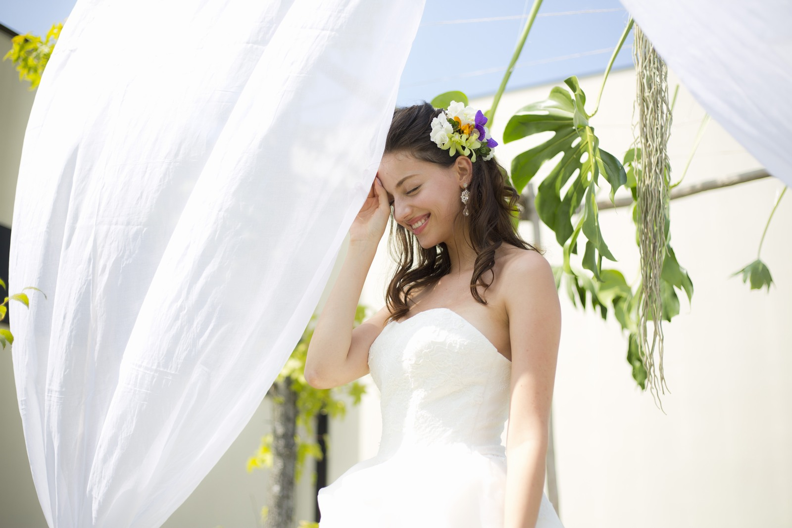 高松市の結婚式場アイルバレクラブのアイルガーデンでのイメージ写真
