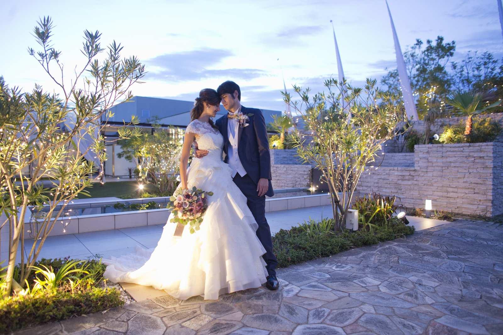 高松市の結婚式場アイルバレクラブのガーデン