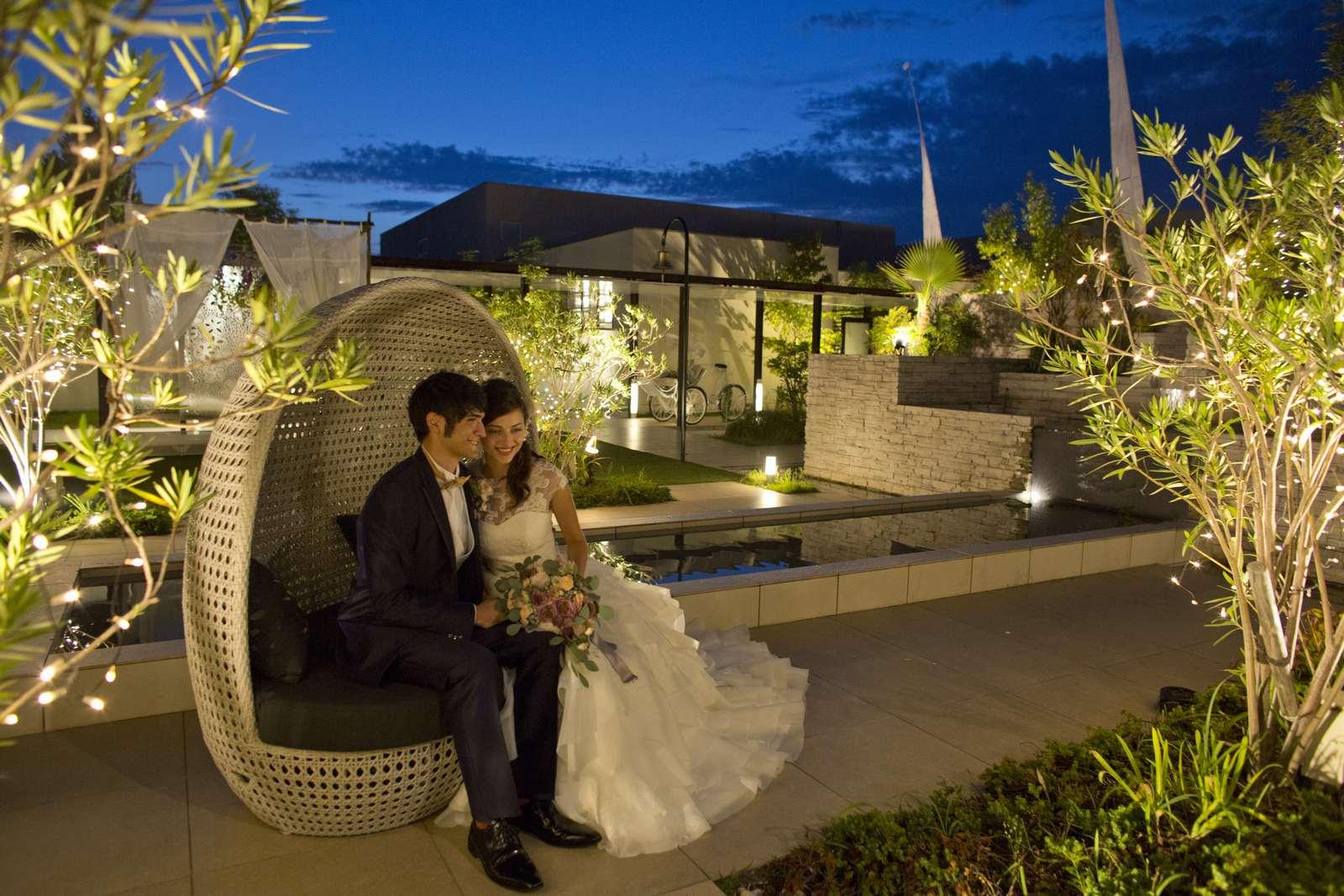 高松市の結婚式場アイルバレクラブのガーデンイメージ