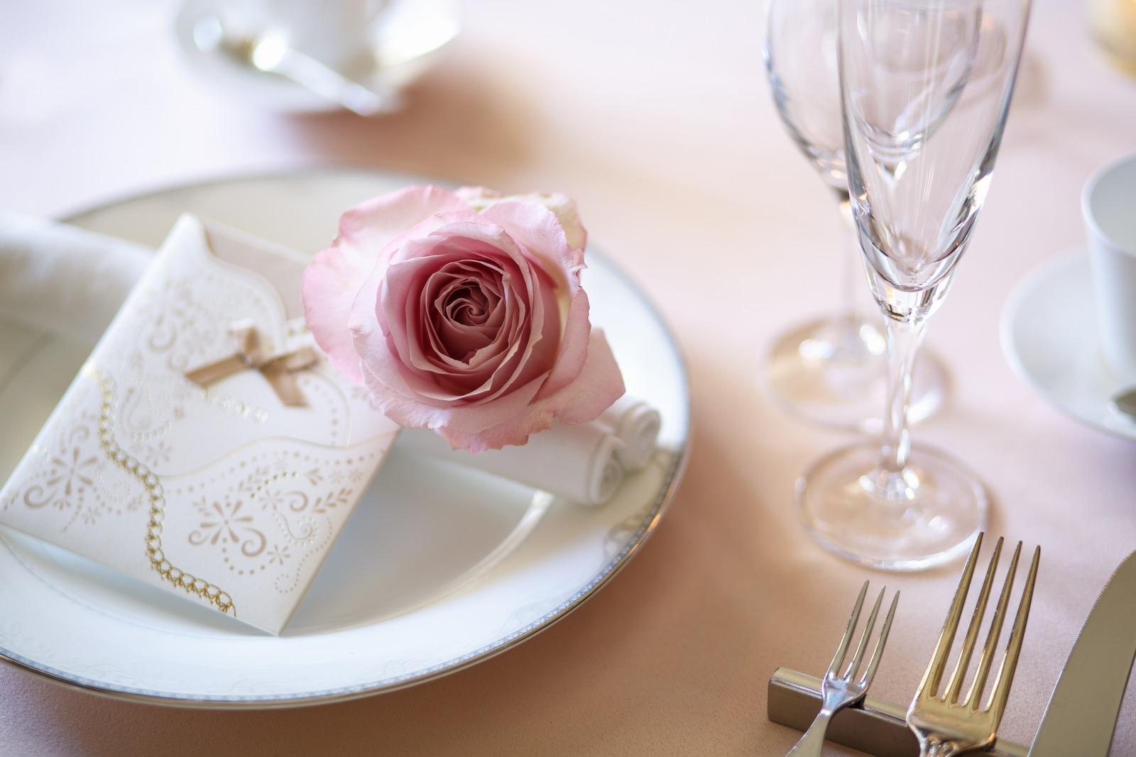 高松市の結婚式場アイルバレクラブのテーブルコーディネート