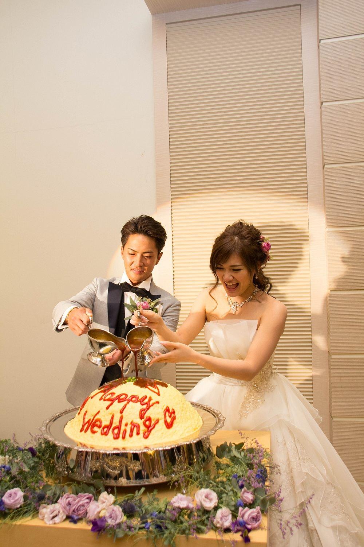 高松市の結婚式場アイルバレクラブのオムライスを使ったファーストバイト