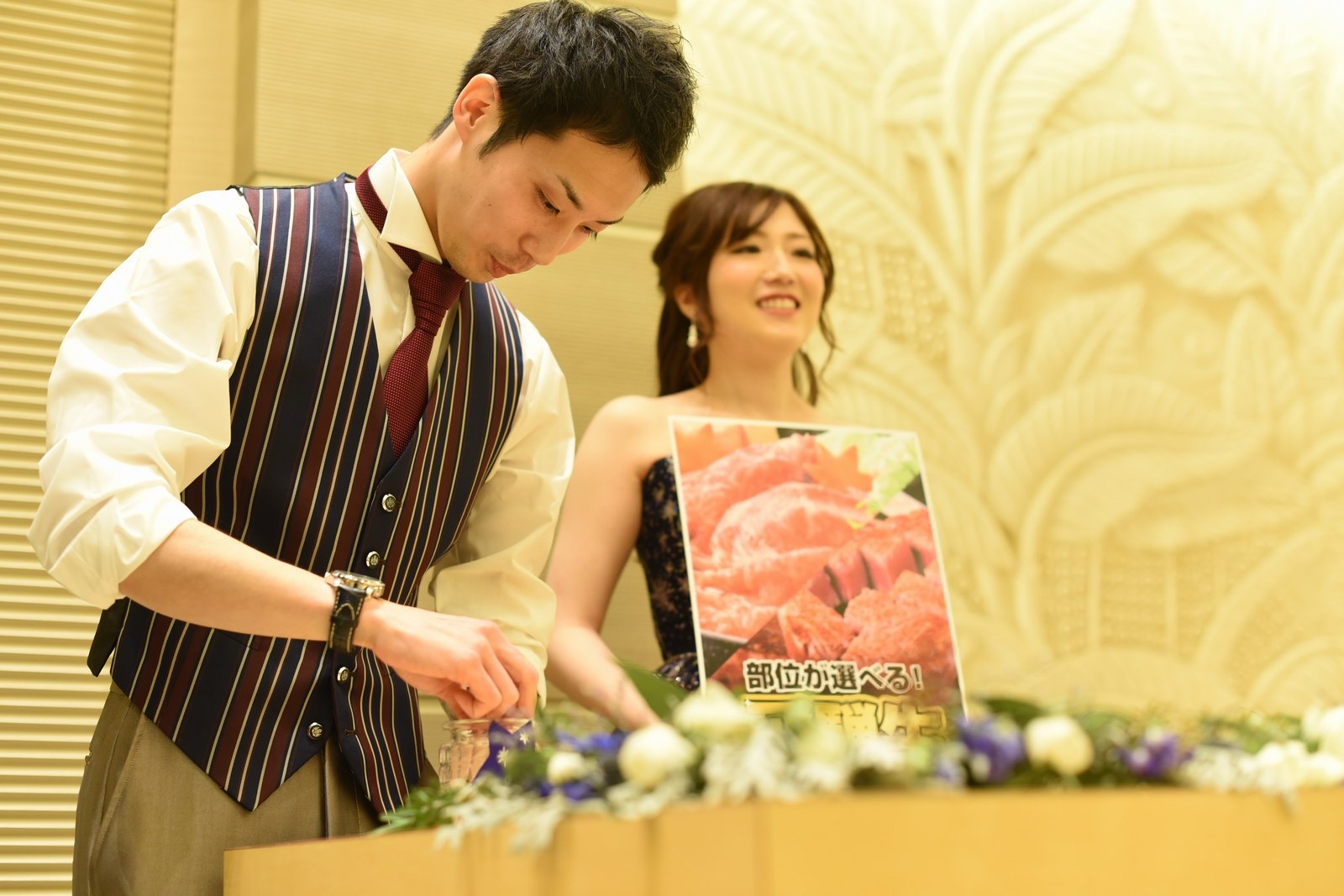高松市の結婚式場アイルバレクラブでドレスの色当てゲーム