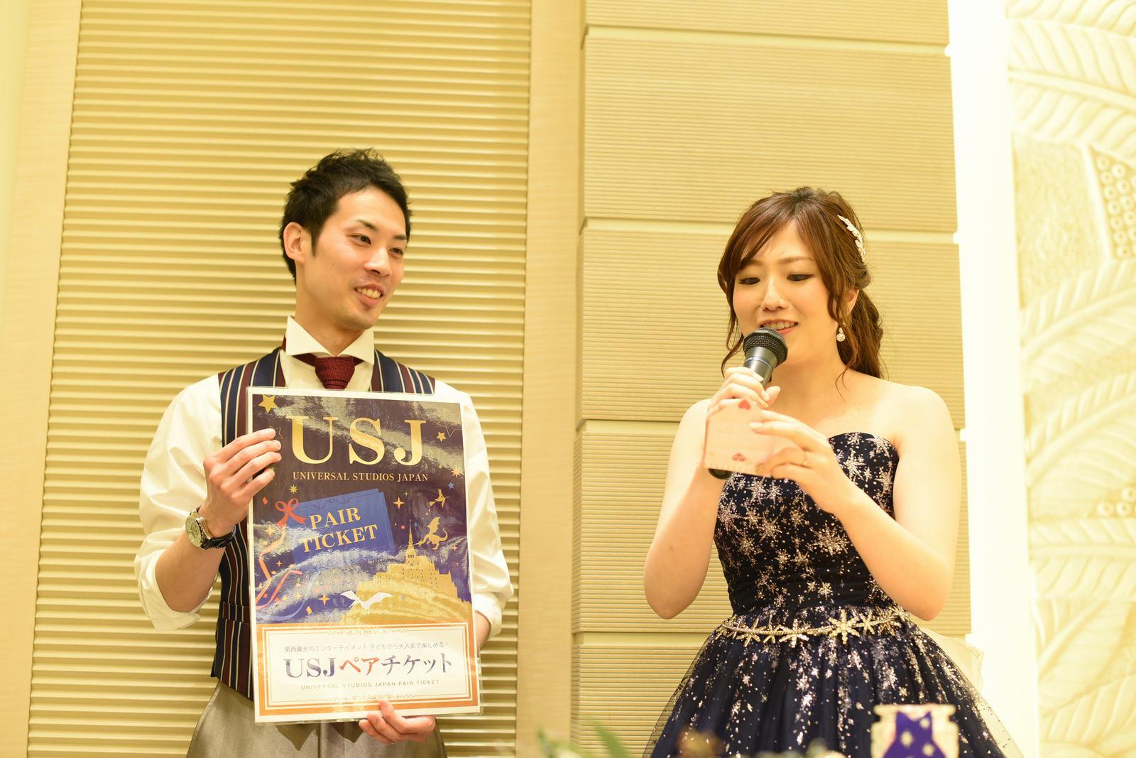高松市の結婚式場アイルバレクラブでドレス色当てゲーム