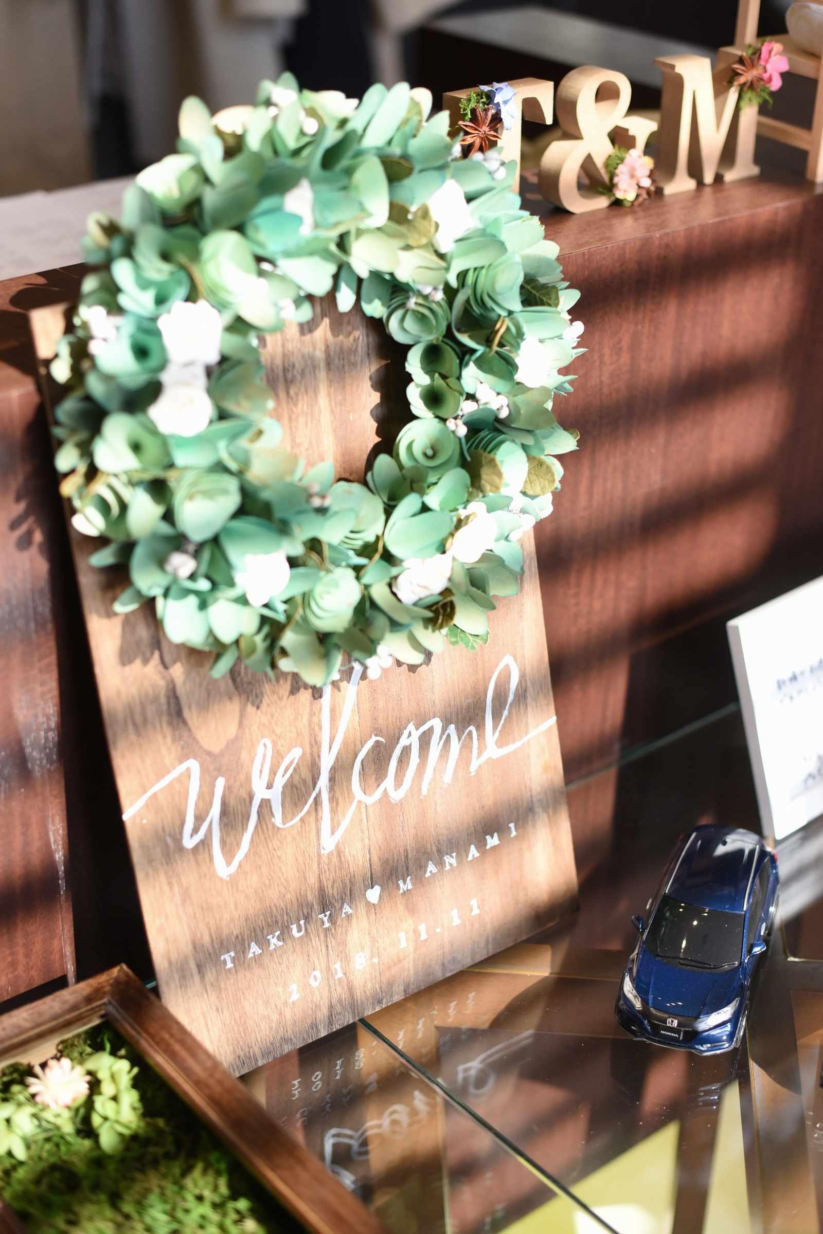 高松市の結婚式場アイルバレクラブの手作りのウェルカムボード