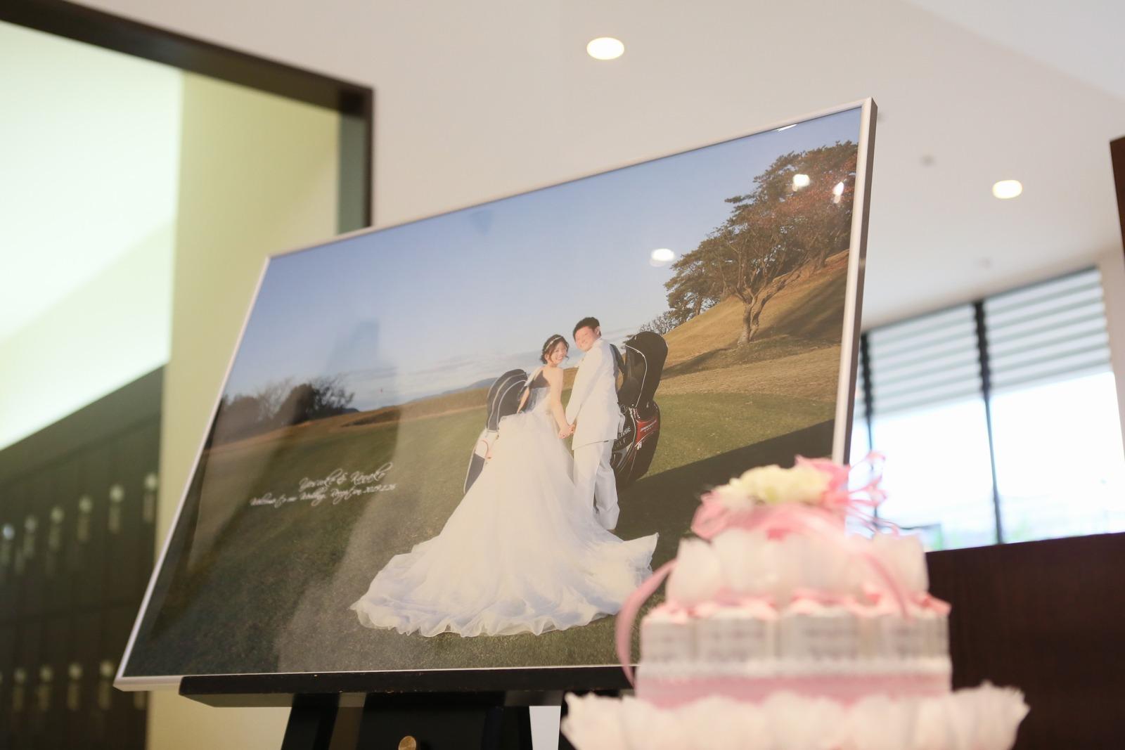 高松市の結婚式場アイルバレクラブのゴルフ場で撮った前写し写真