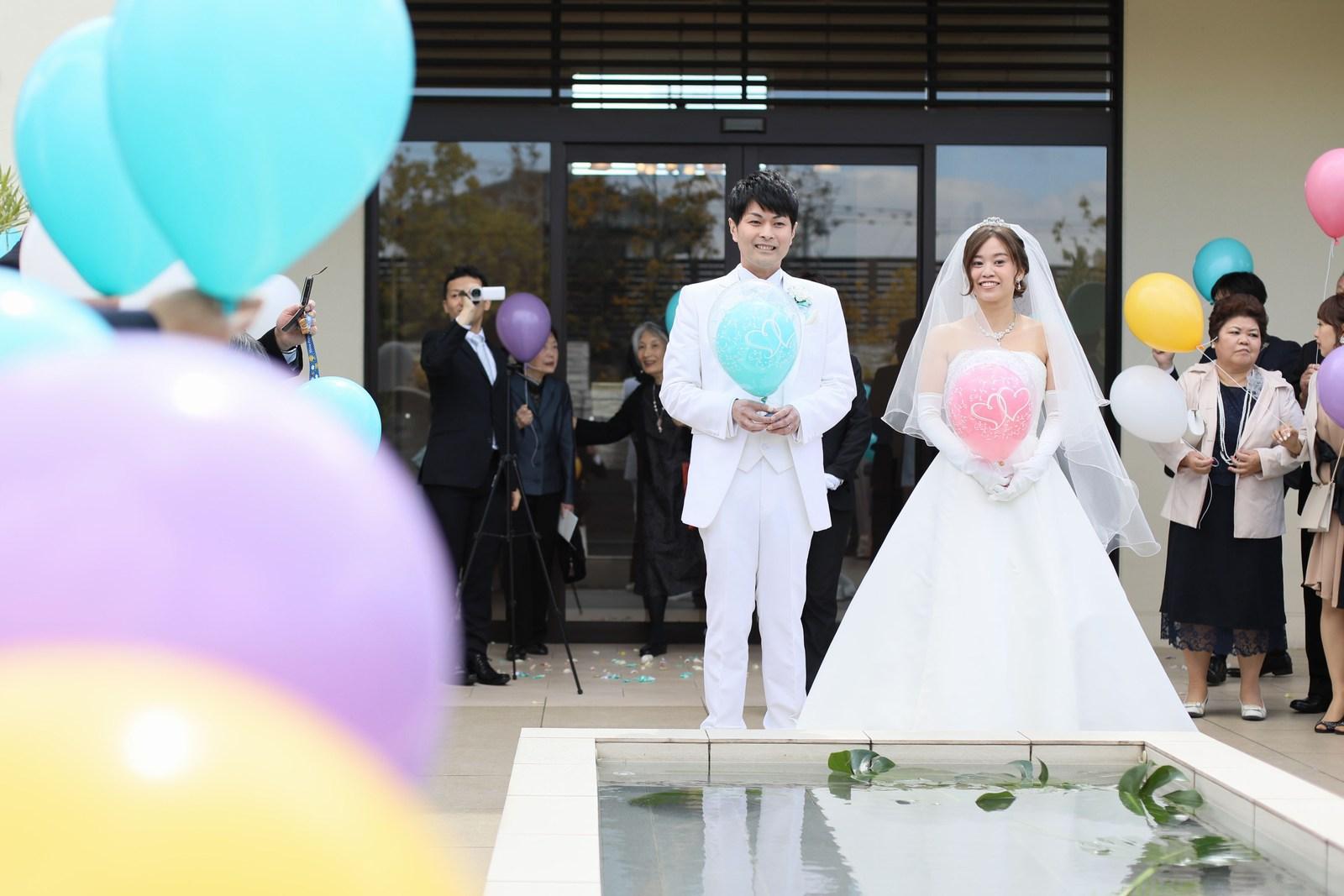 高松市の結婚式場アイルバレクラブのウィッシュトスバルーン