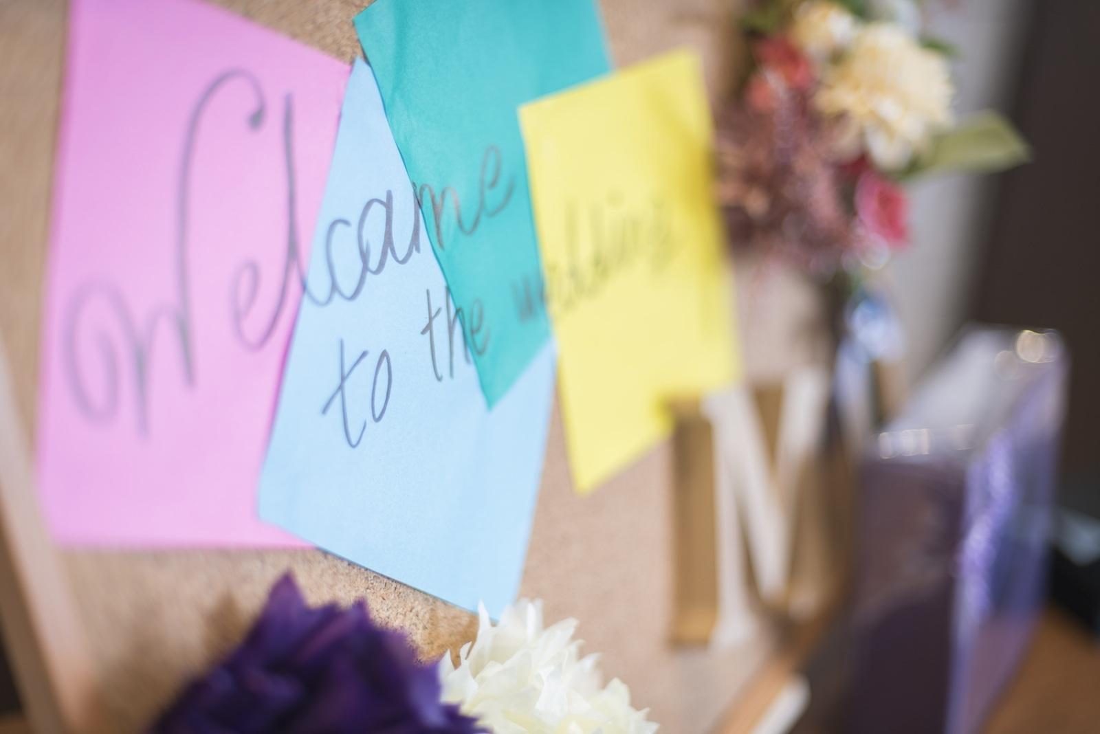 高松市の結婚式場アイルバレクラブの手作り受付アイテム