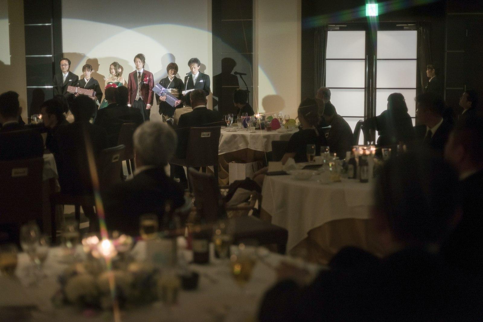 高松市の結婚式場アイルバレクラブの新郎父挨拶