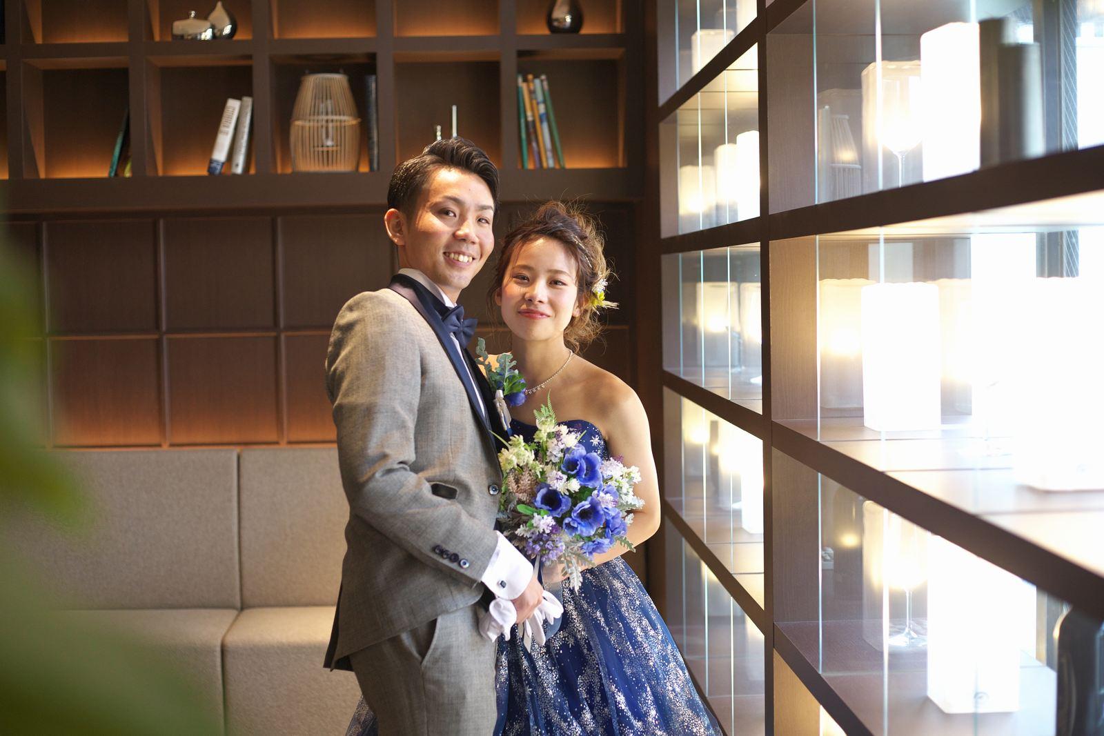 高松市の結婚式場アイルバレクラブの二人写し