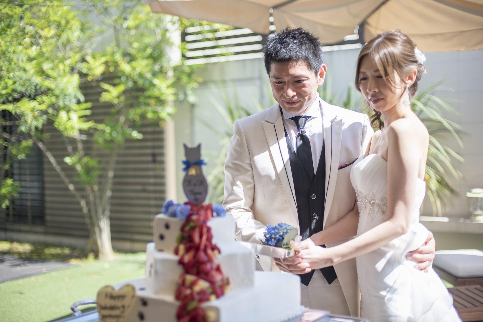 高松市の結婚式場アイルバレクラブ ケーキ入刀