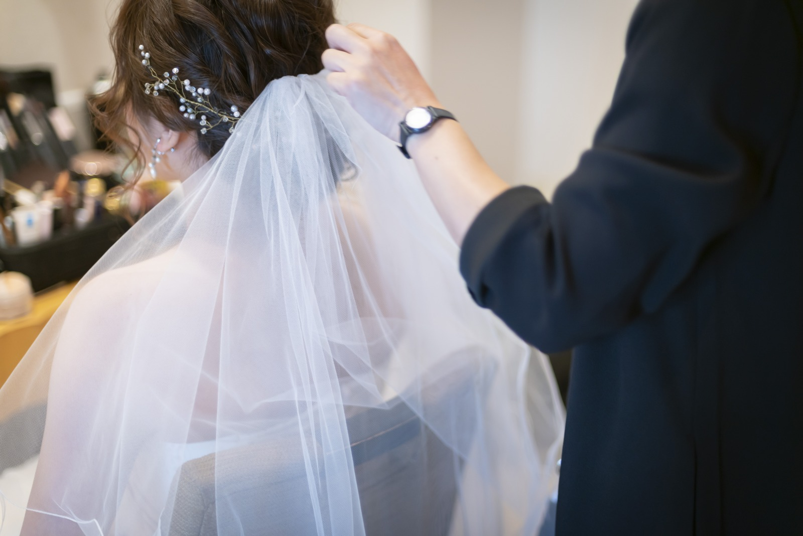 高松市の結婚式場アイルバレクラブの花嫁支度