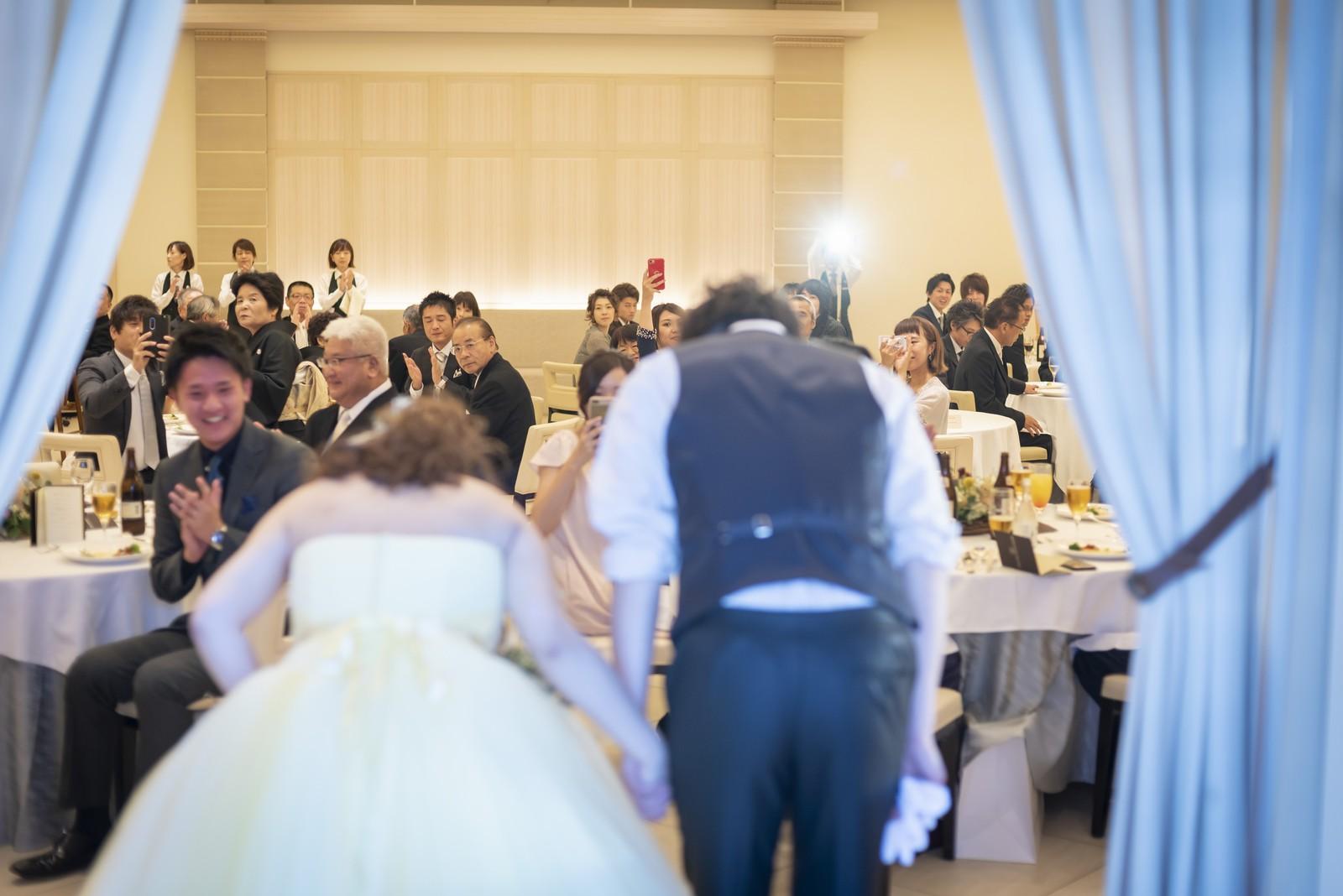 高松市の結婚式場アイルバレクラブの再入場
