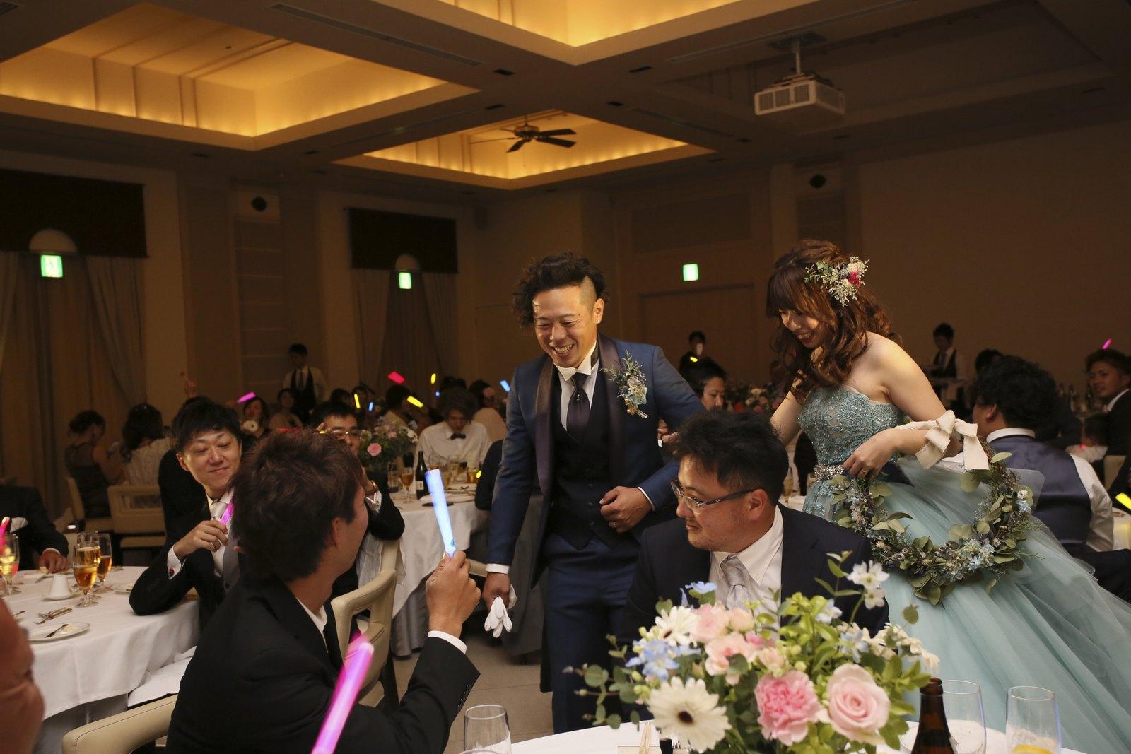 高松市の結婚式場アイルバレクラブ 再入場