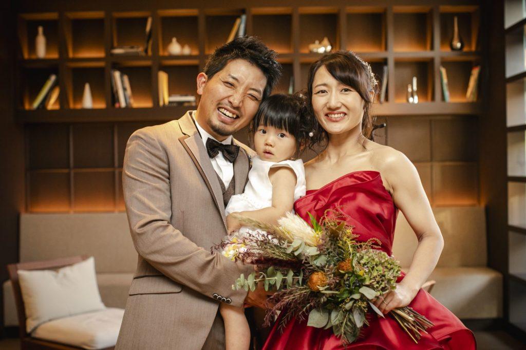 香川県高松市アイルバレクラブの家族3人