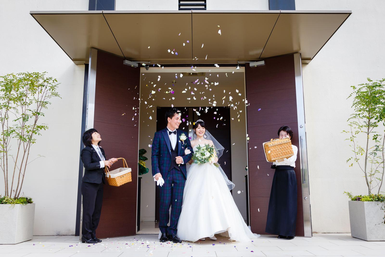高松市の結婚式場アイルバレクラブ フラワーシャワーセレモニー