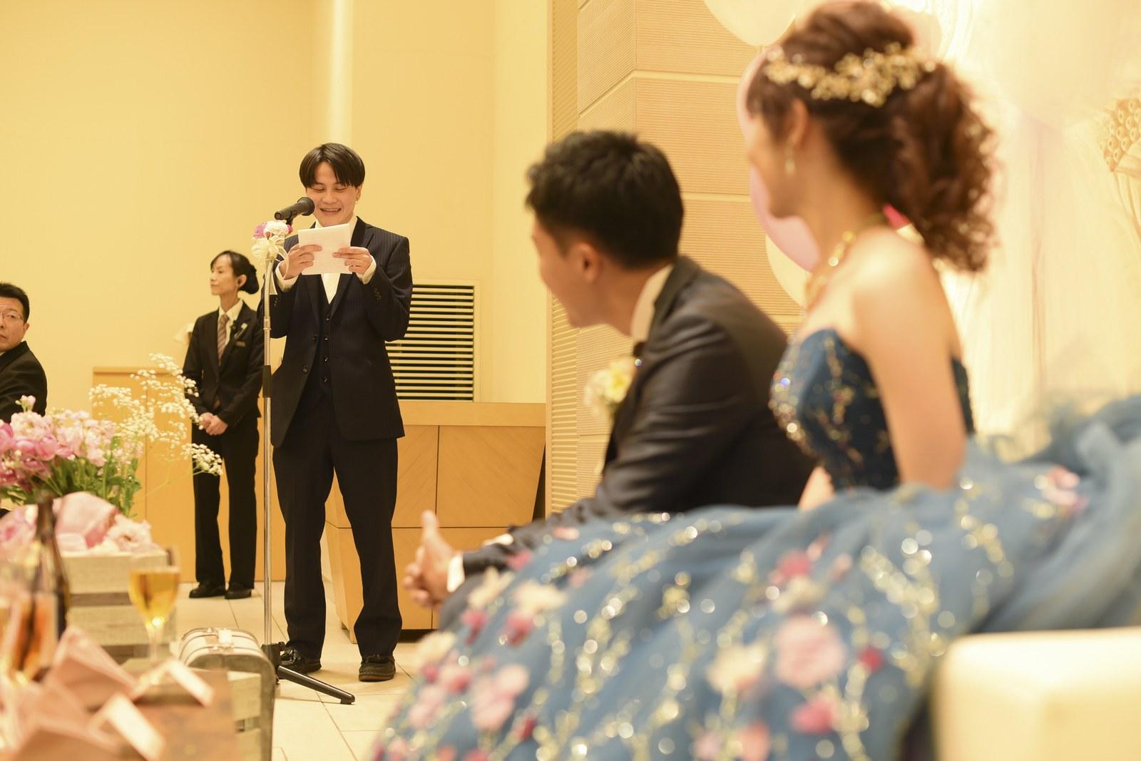 高松市の結婚式場アイルバレクラブ 友人スピーチ