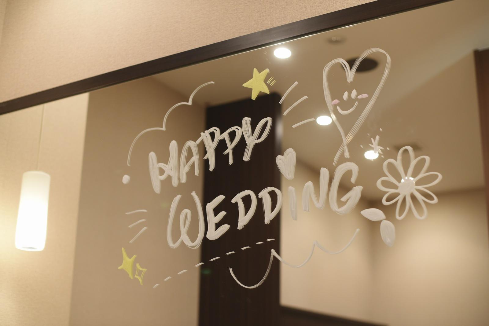 高松市の結婚式場アイルバレクラブ ミラーメッセージ